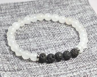 Special Edition: White Jade Lava Rock Bracelet