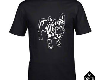 French Bulldog, T-shirt white or black, size S, M, L, XL