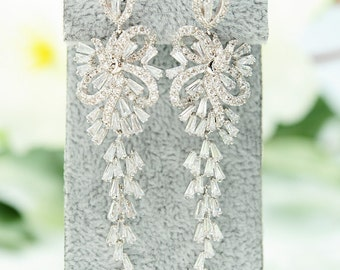 Wedding Rhinestone Earrings Wedding Earrings Wedding Jewelry Rhinestone Long Earrings Bridal Long Crystal Earrings Crystal Bridal earrings