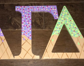 Painted Greek Letters
