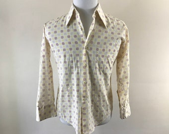 Vintage 1970s, Men's Large, Button Up Shirt