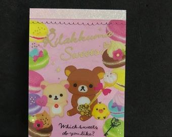 San-X Rilakkuma Sweets mini memo pad