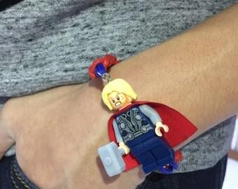 lego knot bracelet, superhero charm wristband, party favors,gift