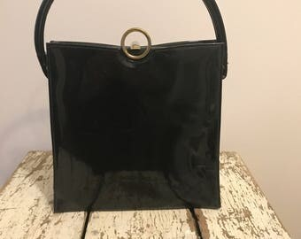 Vintage Black Patent Purse