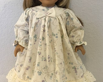 "Old Fashioned Prairie Girl Nightgown, Handmade to fit American Girl or Similar 18"" Doll"