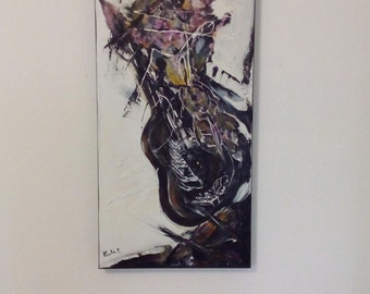 Hard colors, contemporary art, abstract, intuitive, artisticwork, modern picture