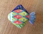 Colorful Fish Knob, Fish Drawer Pull,Fish Handle Pull, Ceramic Fish Knob, Nautical Knob, Beach House Knob, Furniture Knob Pull, Cabinet Knob