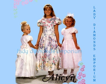 McCall's 6392 Alicyn Exclusives Dress Flower Girl Special Occasion Pageant Wedding  Bridesmaid Childs size 3 4 5 Sewing Pattern Uncut FF