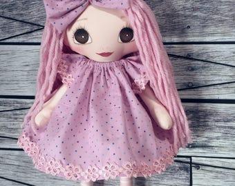 Pink handmade Rag doll