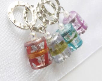 NEW - Little Drummer Boy - Four Handmade Stitch Markers - Fits Up To 6.5mm (10.5 US) - Limited Edition
