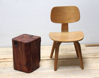 Timber Side Table Stool Seat