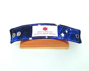Kids Safety I.D. Wristband Custom Medical Alert Bracelet Glow Stars