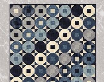 "Sunrise Sunset quilt pattern - Janet Clare - 63"" x 63"""