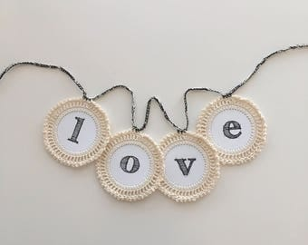 love crochet garland