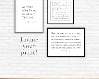 Add a frame, Framed Print, custom quote print framed, personalized gift, wall art