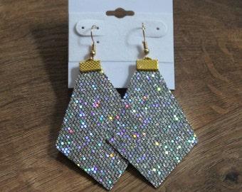 Naked Phoenix Leather Earrings - Disco Ball