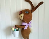 Primitive Folk Art Rabbit Doll | Easter Rabbit | Easter decorations | Farmhouse decor | Primitive Bunny | Easter Bunny Easter eggs