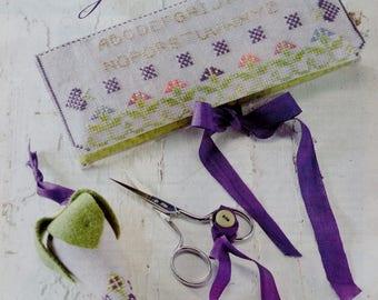 Cross Stitch Pattern | ELIZABETH'S GARDEN | Sharon Verbos | Needlebook | Scissors Fob | Counted Cross Stitch Pattern | Chart | fam
