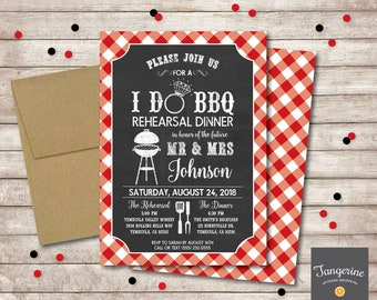 I Do BBQ Invitation, I Do BBQ Rehearsal Dinner Invitation, Chalkboard Invitation, Bbq Engagement, Printable Invitation Digital File