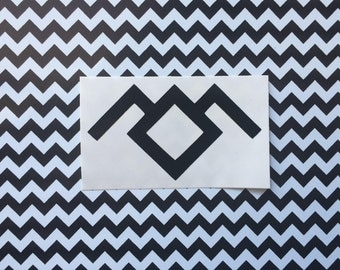 Owl Cave vinyl decal - CHOICE OF COLOR - Car decal, laptop decal, Black Lodge, Twin Peaks inspired, The Return, Cult tv, Lynch