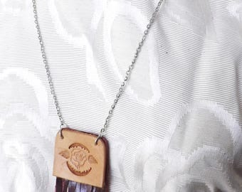 American Beauty: Rose Stamped Necklace