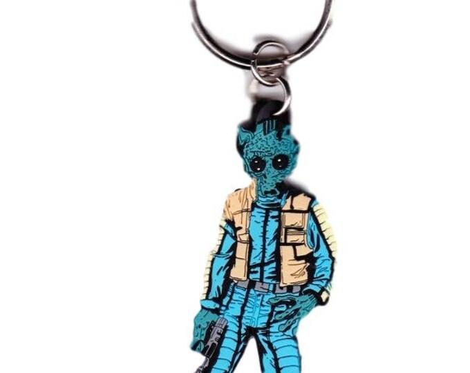 "Vintage Greedo 3.5"" Rubber Key Chain"