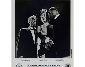 Lambert, Hendricks and Ross Publicity Photo 8 by 10 Inches
