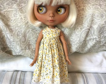 Neo Blythe Dress - RESERVED FOR JUDY -Vintage Yellow Roses