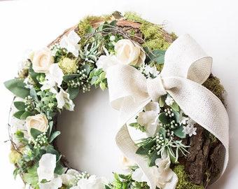 Front door wreaths, summer wreath, outdoor wreath, housewarming gift