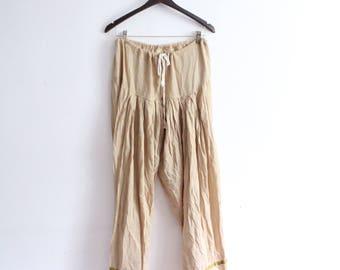 Soft Tan Indian Harem Pants