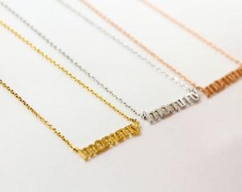 Gold mommy necklace etsy mommy necklace rose goldsilvergold necklace choker length mothers day aloadofball Gallery