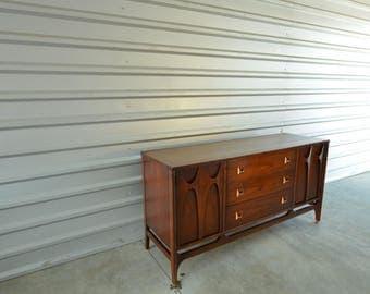 "Vintage Mid Century 66"" Broyhill Brasilia Credenza / Hutch / Console Table / Sideboard / Buffet"