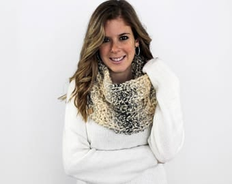Knit Infinity Scarf, Chunky Knitted Scarves- Cheverly Cowl