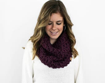 Knitted Scarf Cowl Chunky Fig- Calvert Cowl
