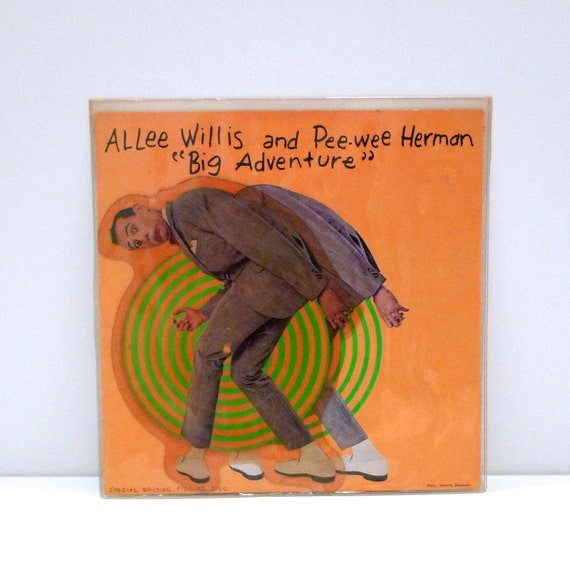 Vintage Pee Wee Herman Picture Disc Vinyl Record 1985 Big
