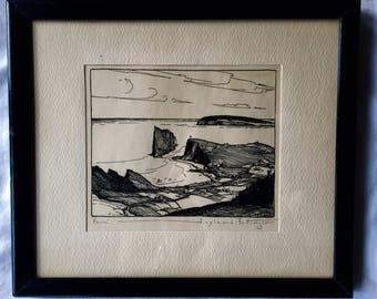 "Hoyland Bettinger Wood Block Print ""Percé"""