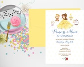 Beauty and the Beast Invitation, Beauty and the Beast, Beauty and the Beast Birthday Invitations, Belle Invitation, Belle