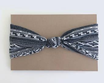 bandeau à noeud motifs etniques