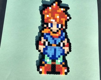 Free Magnet or Keychain Chrono Trigger Perler Flatironed pixel art, video game gifts, valentine gift for guys,