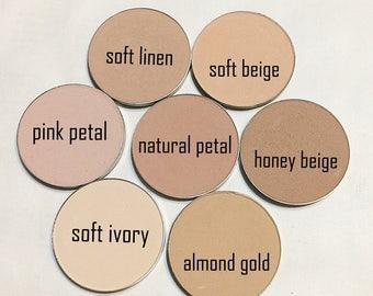 NATURAL PETAL Natural Mineral Pressed Foundation or Setting Powder - Gluten Free Vegan Makeup