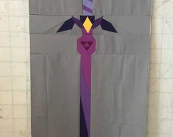 Zelda Sword Foundation Paper Piecing Pattern