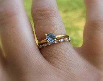 SUMMER CLEARANCE 14K Gold Tanzanite Ring, Size 7.5, Non Traditional, Gemstone Ring, Yellow Gold, Prong Set, Tanzanite Promise Ring