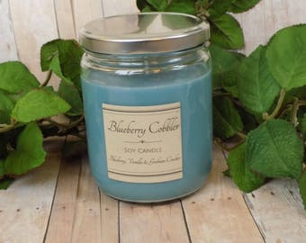 Blueberry Cobbler - Soy Candle- Natural Candle