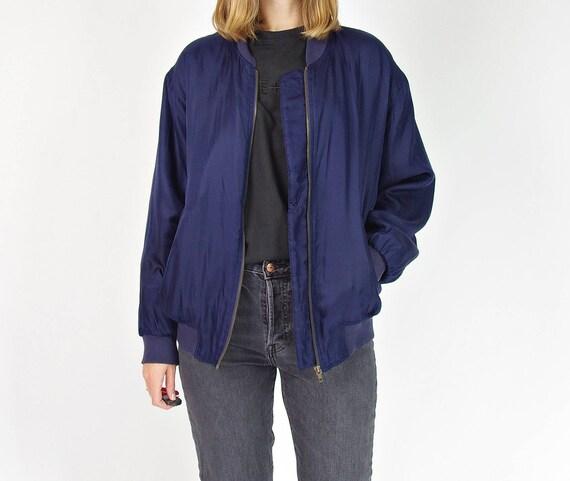Karlota's street style oversized silk bomber jacket / size S-M-L