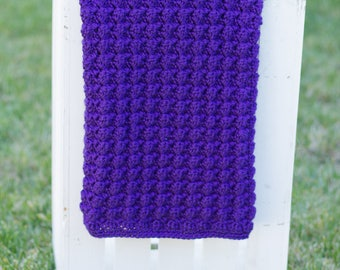 Reversible Ripples Digital Crochet Pattern   Baby Blanket Pattern   Crochet Pattern