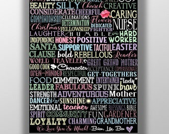70 things we love about you, 70th birthday present, 70th birthday gift, gifts for her, things I love about you sign, 70th bday party decor