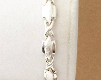 """Sterling Silver Brushed Textured Bracelet 7 1/4"""" (7.1 grams)"""