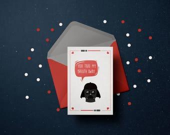 Instant Download | Star Wars Valentine's Day Card | Darth Vader | Printable | Valentine's Gift