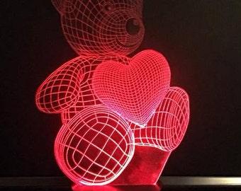 Light Up Bear with Heart