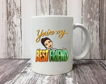 Custom Bitmoji Mug, Bitmoji, Best Friend Mug, Friend Mug, Best Friend Gift, Best Friend, Friend Gift, Gifts for Her, Gifts for Mom